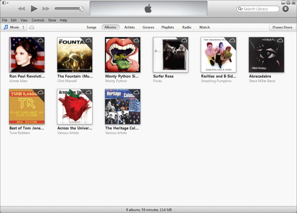 iTunes Music library no longer showing Fool audio book