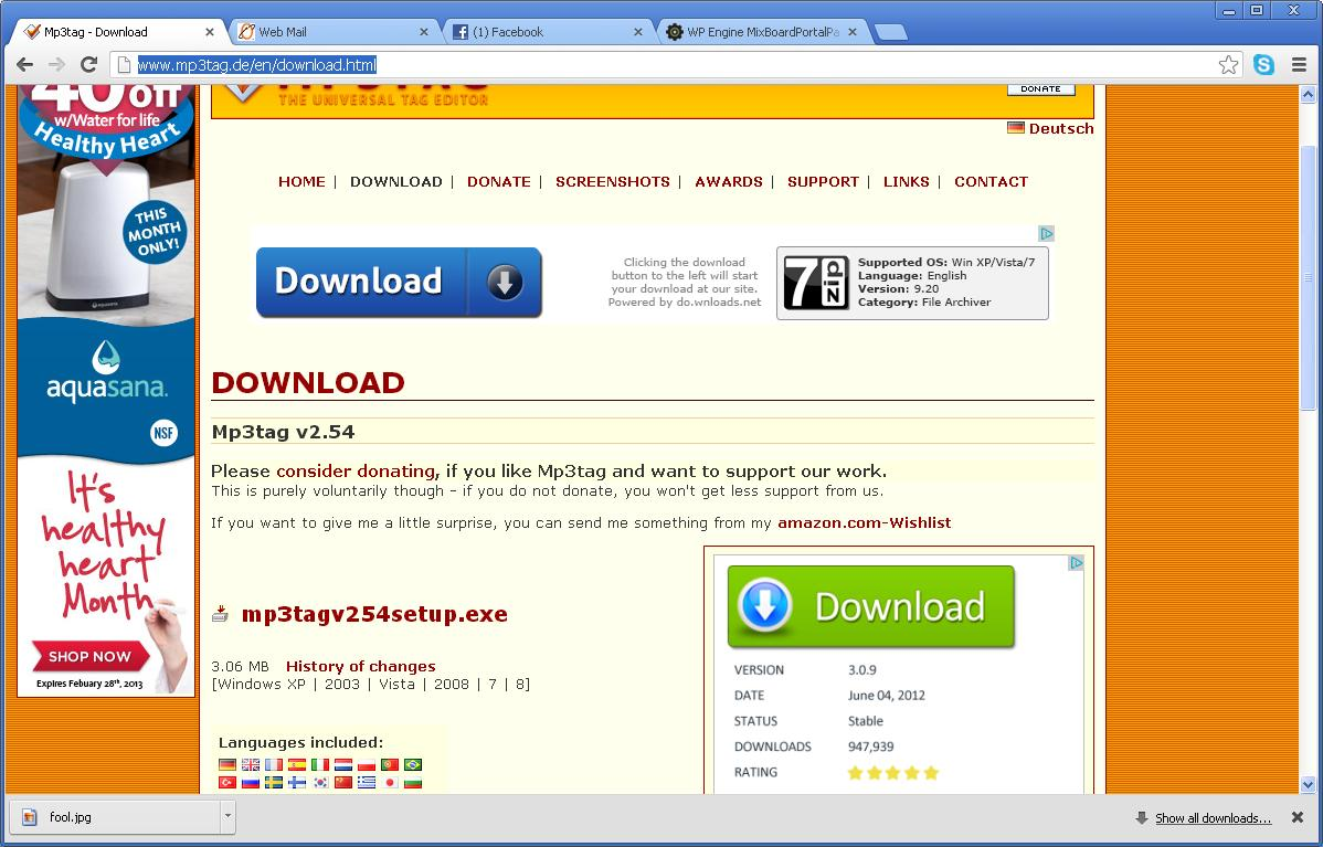 mp3tag download page