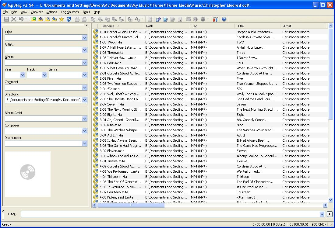 mp3tag main window showing Fool audio files